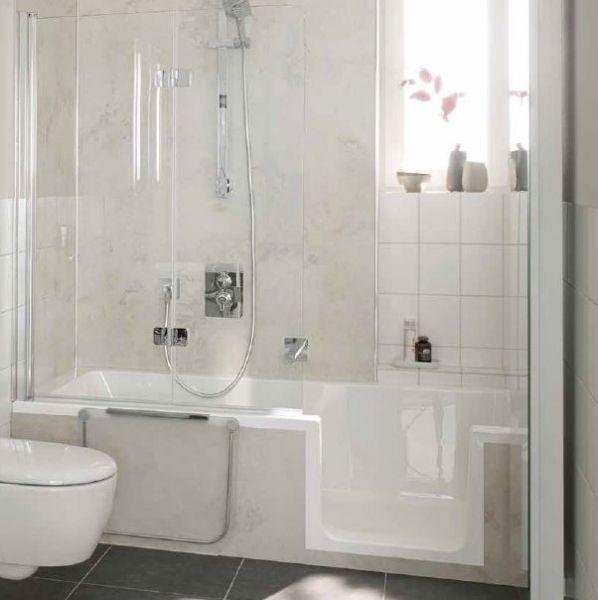 HSK Badewanne Dobla mit Duschbereich mit Einstieg und Tür