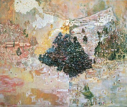 Ski Jacket, 1994 by Peter Doig. Magic Realism. landscape