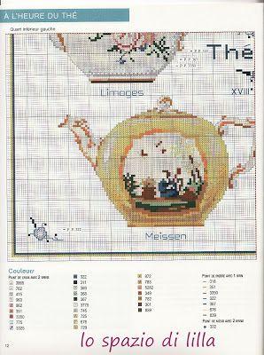 lo spazio di lilla: Le teiere del XVIII secolo a punto croce
