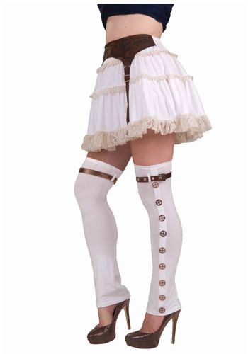 Cute idea with the garter sewn onto the skirt