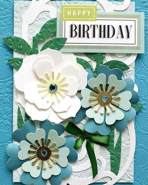 I love this card by Anna Griffin - the colors, the style - it's a little edgy and so much fun!