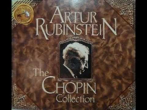 """... Chopin """"Minute Waltz"""" Op. 64 No. 1 in D flat ... performed by Arthur Rubinstein"""
