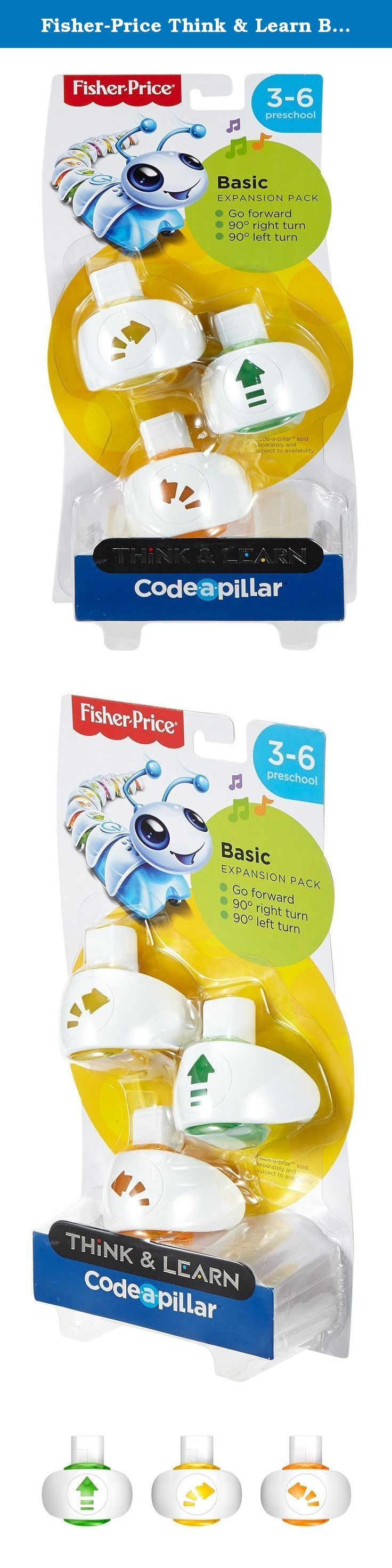 Fisher-Price Think & Learn Basic Expansion Pack. Code-a-pillar inspires little learners to be big thinkers! Preschoolers can develop important skills—like problem solving, planning & sequencing, and critical thinking—as they arrange (and rearrange!) these additional, easy-to-connect segments to send Code-a-pillar on all sorts of different paths. Add Go Forward, turn right 90 degrees, and turn left 90 degrees ... your wish is his command with this Code-a-pillar expansion pack!.