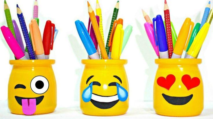 DIY EMOJI PENCIL HOLDERS | School Supplies