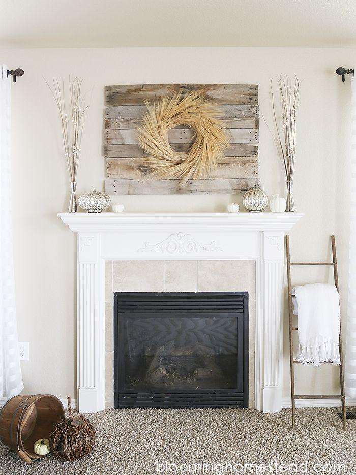 Best 25+ Fall mantle decor ideas on Pinterest   Fall fireplace ...