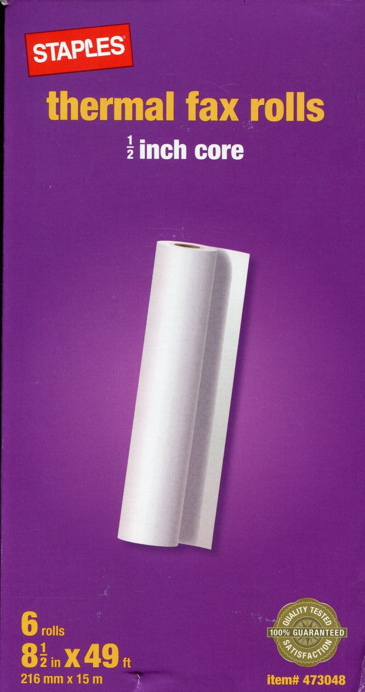 Thermal Fax Rolls 1/2-inch Core 49 ft High Sensitivity Paper for More Definition, Less Curl 6 rolls in pack