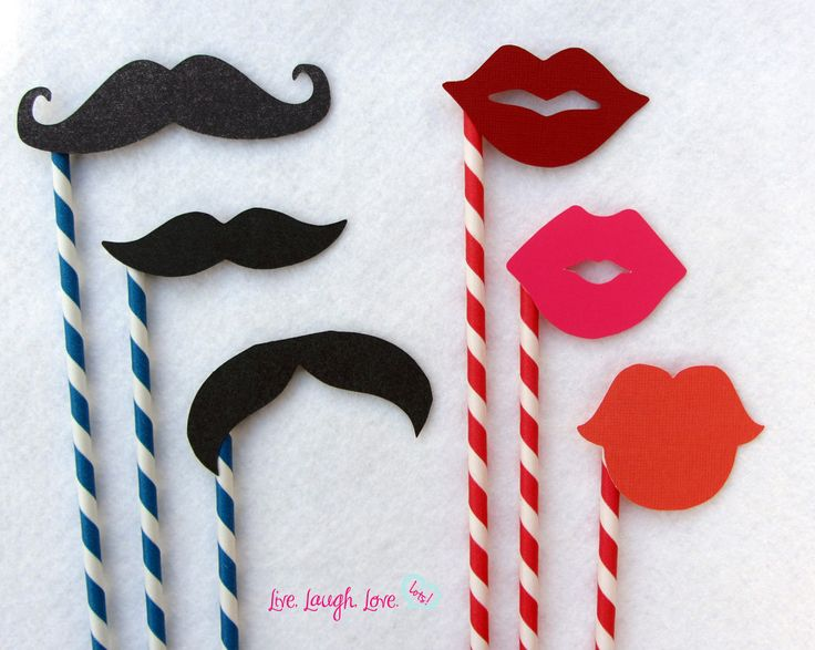 Mustaches and Lips on Paper Straw Set Photo by livelaughlovelots. $15.50 USD, via Etsy.