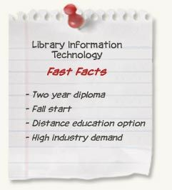 Library Information Technology diploma at SAIT - Fast Facts: Two year diploma; Fall start; Distance education option; High industry demand Employment Rate: 95% Books and supplies: $2,000 Tuition and Fees: $5,000 (year 1); $4,725 (year 2)