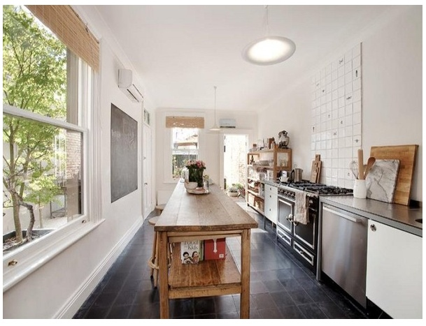 galley kitchen home and more pinterest