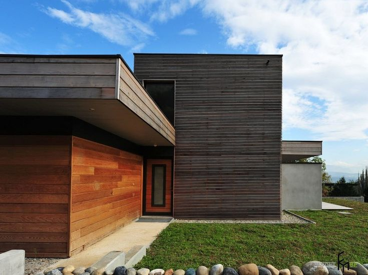 Современный дизайн фасадов частных домов