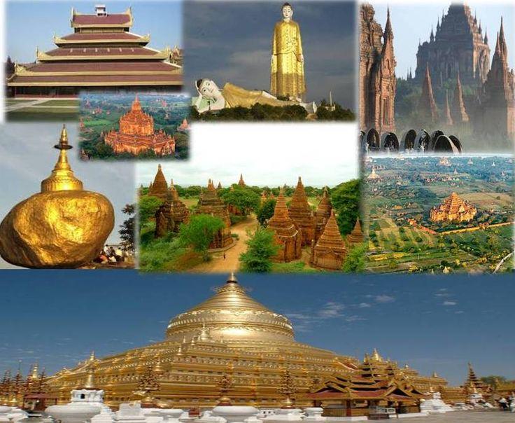 Myanmar Top Cities and Popular Travel Destinations #Yangon #Bagan #Mandalay #Bago #Mawlamyine #Naypyidaw