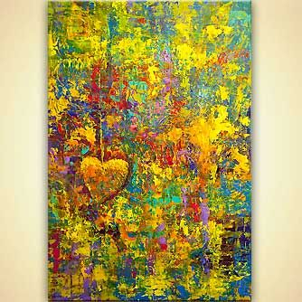 Abstract painting - Heart Wish, Osnat