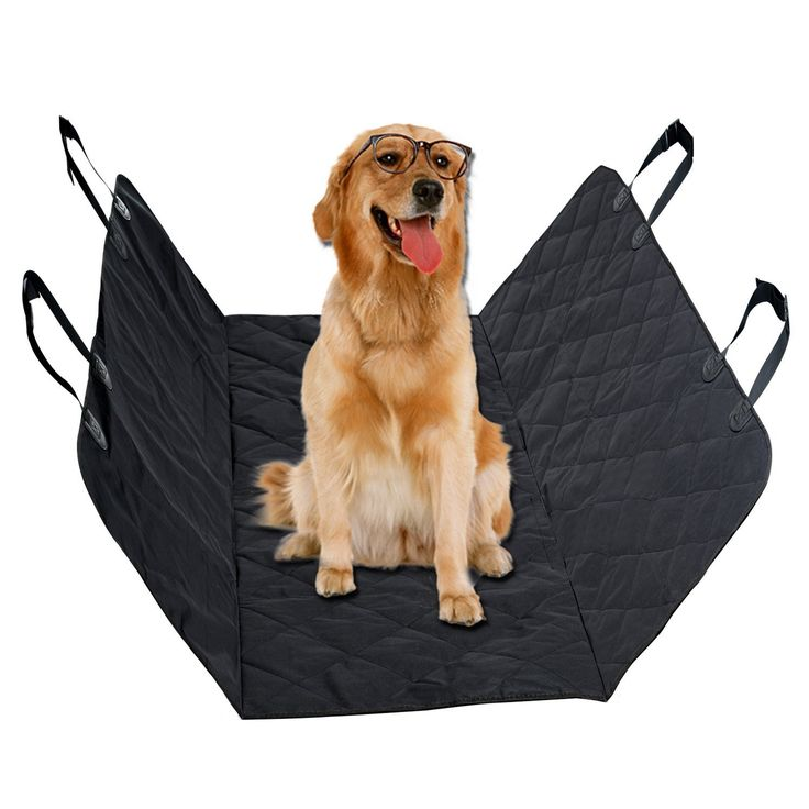 Pet Seat Covers for Car Vitalismo Dog Car Seat Hammock Convertible Waterproof Mat Padded Scratch Proof Machine Washable Nonslip for Cars Trucks and SUV- Black