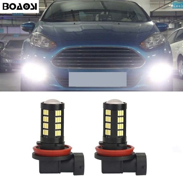 BOAOSI 2x H8 H11 LED Car Fog Lights Driving DRL Bulb For