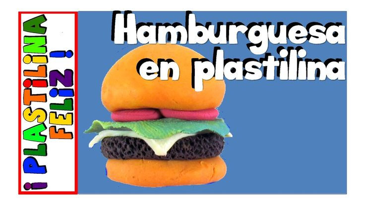 Hamburguesa de plastilina, tutorial, paso a paso