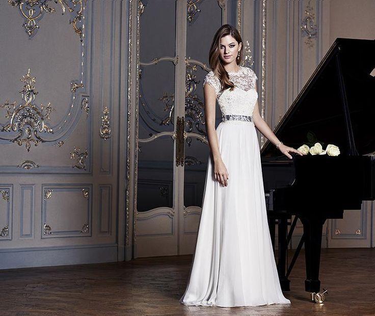 Elegant Charm School with Rosalina Shrug Deeply romantic our Charm School bridal gown u
