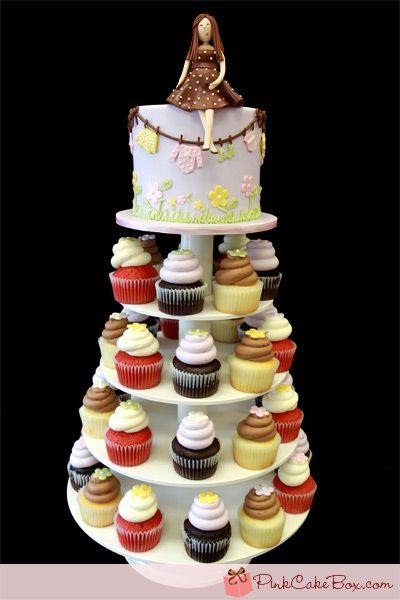 Tiered Cake With Box Mix