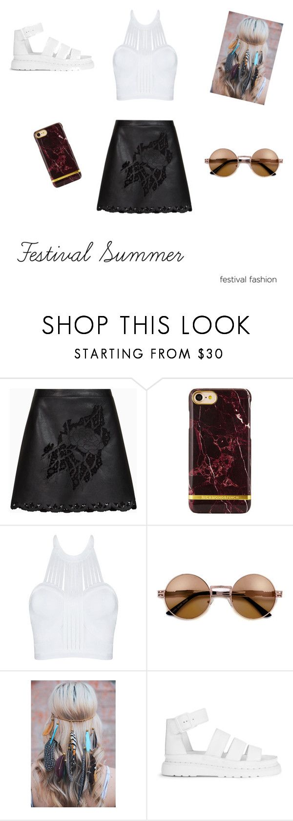 Festival Summer by vilja1995 on Polyvore featuring BCBGMAXAZRIA and Dr. Martens