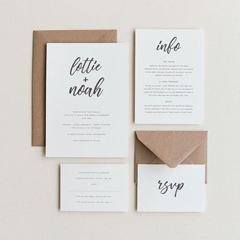 Signature Wedding Invitation / Ivory
