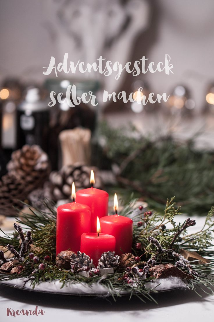 ber ideen zu adventsgesteck selber machen auf pinterest bastelideen zu weihnachten. Black Bedroom Furniture Sets. Home Design Ideas