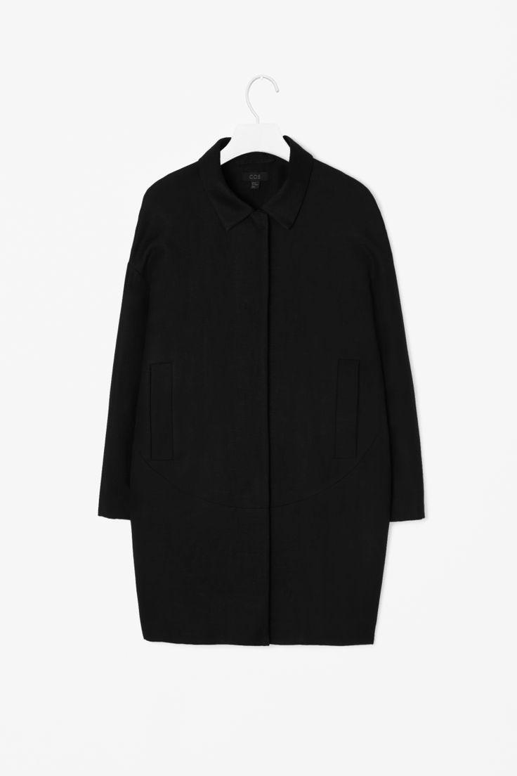 Oversized linen coat