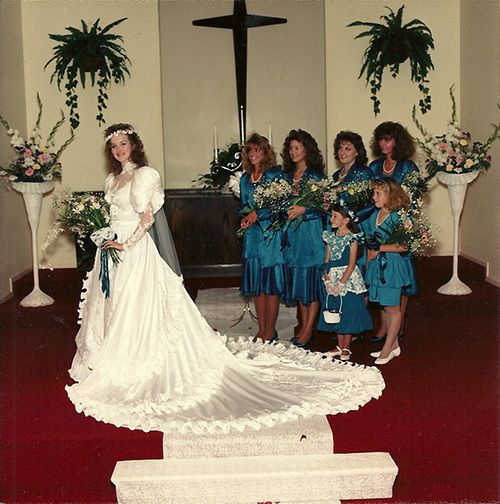 Vintage Wedding Dresses 80s: 65 Best Totally Tubular 80's Brides Images On Pinterest