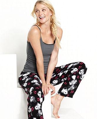 Briefly Stated Pajama Pants, Snoopy Pajama Pants - Womens Juniors- Macy's