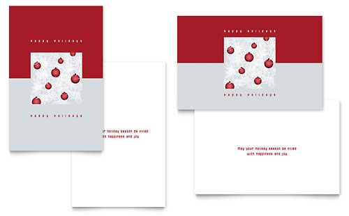 Free Greeting Card Templates For Microsoft Word Whimsical Ornaments