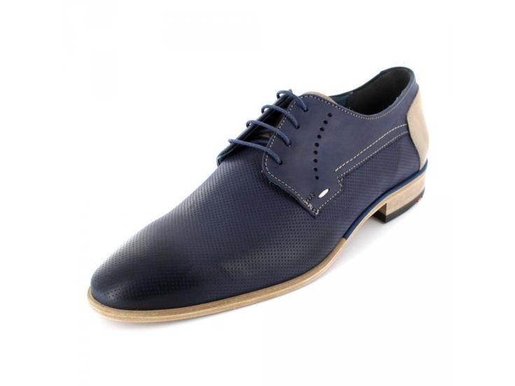 Lloyd Drannon - Herren Schnürschuh aus Leder in blau