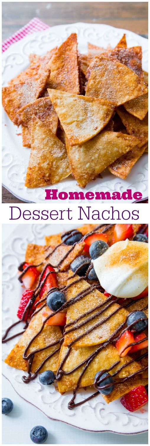 Dessert Nachos. - Sallys Baking Addiction For the Cinnamon Sugar Chips that would go great with the crane apple salsa I made this week