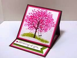Peanuts and Peppers Papercrafting: Try It Thursday - Stampin' Up! Sheltering Tree Easel Card