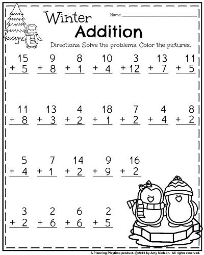 1st Grade Worksheets For January 1st Grade Printable