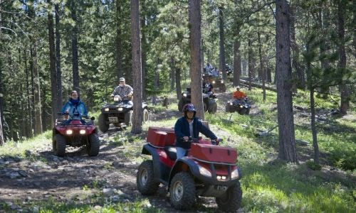 ATV riding in the Black Hills Polaris Razor side by side 2 person
