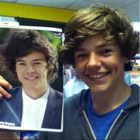 Harry Styles look - a - like.  The resemblance is scary.