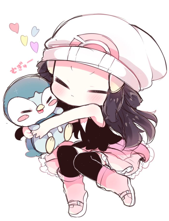 Piplup and Dawn. I didn't save this, nor do I take credit for it.                                                                                                                                                                                 More