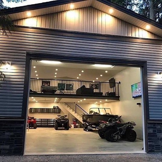 Loft House Design: Garage Goals @roughjeep #awesome #mancave #garage #badass