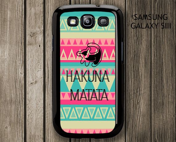 Hakuna Matata Simba Samsung Galaxy S3 case, Samsung Galaxy S3 cover on Etsy, $14.99