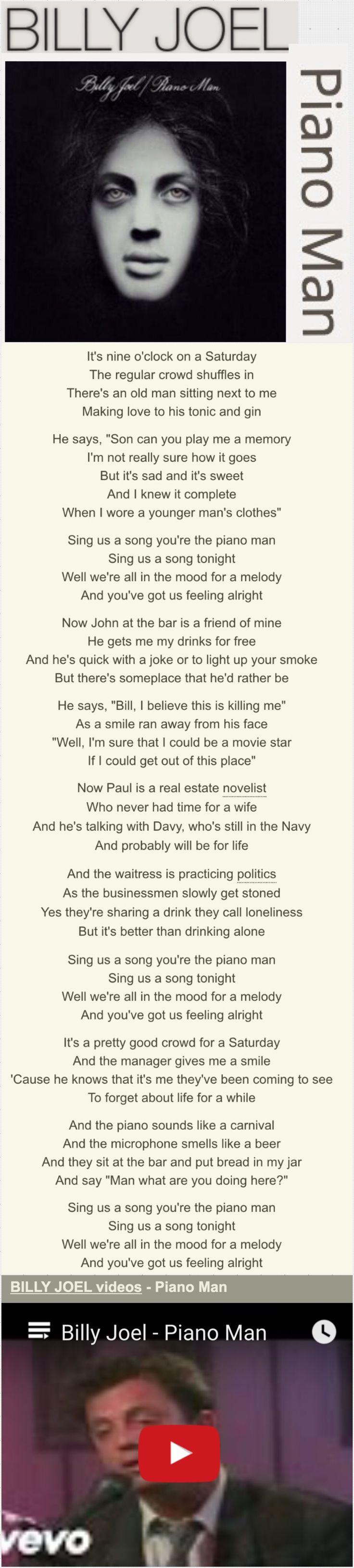 """Billy Joel's """"Piano Man"""""""