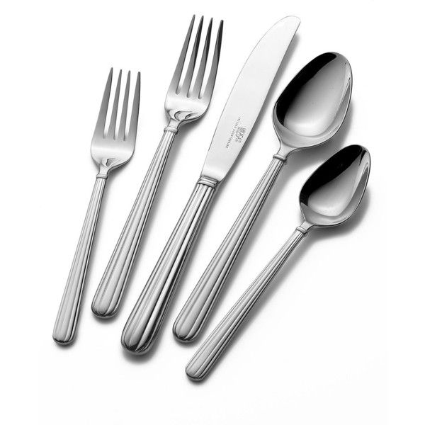 Mikasa Italian Countryside 20-Piece Flatware Set ($120) ❤ liked on Polyvore featuring home, kitchen & dining, flatware, kitchen, silver, mikasa, mikasa flatware sets, mikasa flatware, mikasa silverware and italian countryside flatware