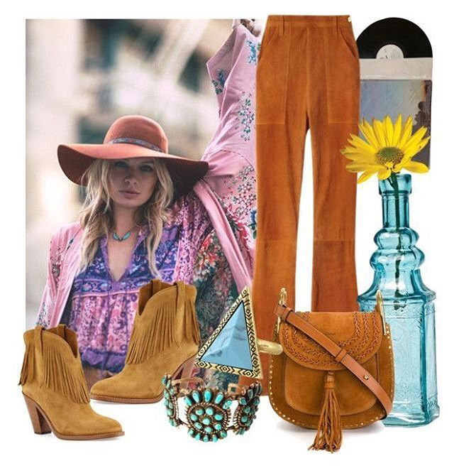 W e e k e n d  v i b e s  outfit inspiration created by @_neongypsy    SHOP the spell folk town blouse now online or instore #neongypsy #neongypsyboutique #spell #weekendvibes #flatlay #ottd #spell #spelldesigns #folktown #chloebag #houseofharlowring #framedenim #saintlaurentboots #turquoise #antique #creditorcreate