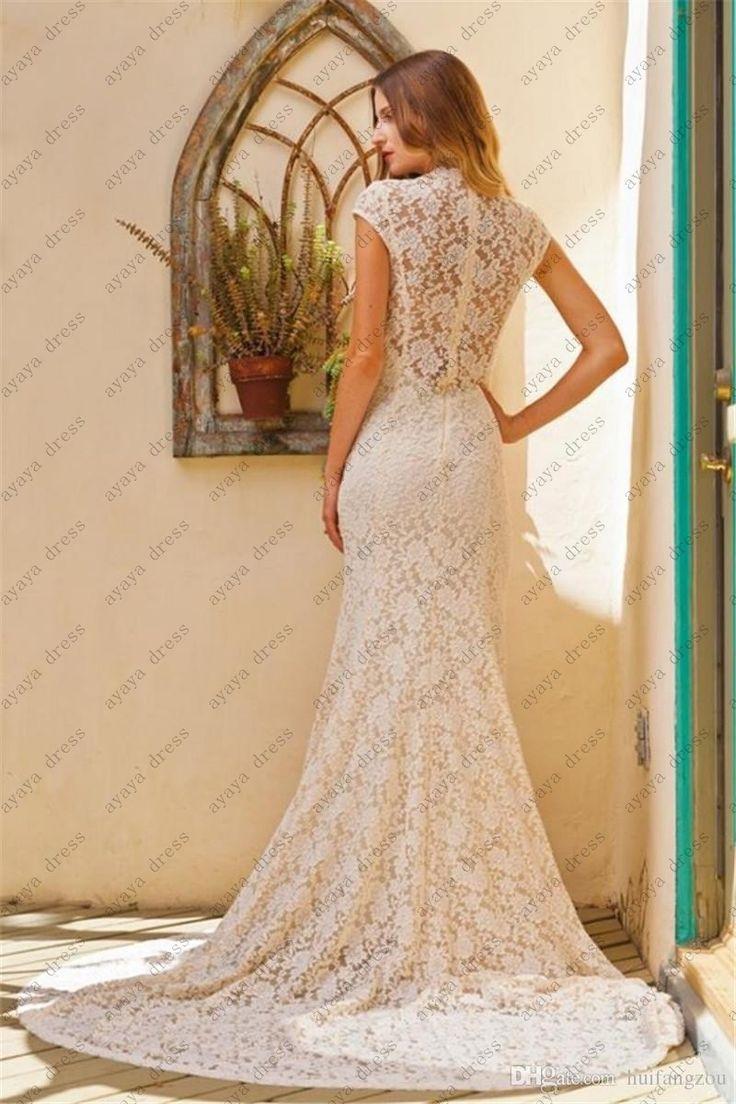 >> Click to Buy << wejanedress Customize ivory vestidos de novia sirena 2017 lace mermaid wedding dresses vestido de boda berta camo wedding dress #Affiliate