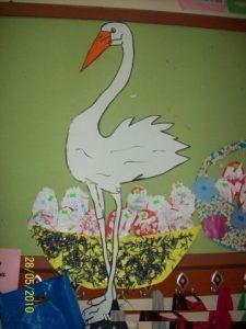 Stork craft idea for kids | Crafts and Worksheets for Preschool,Toddler and Kindergarten