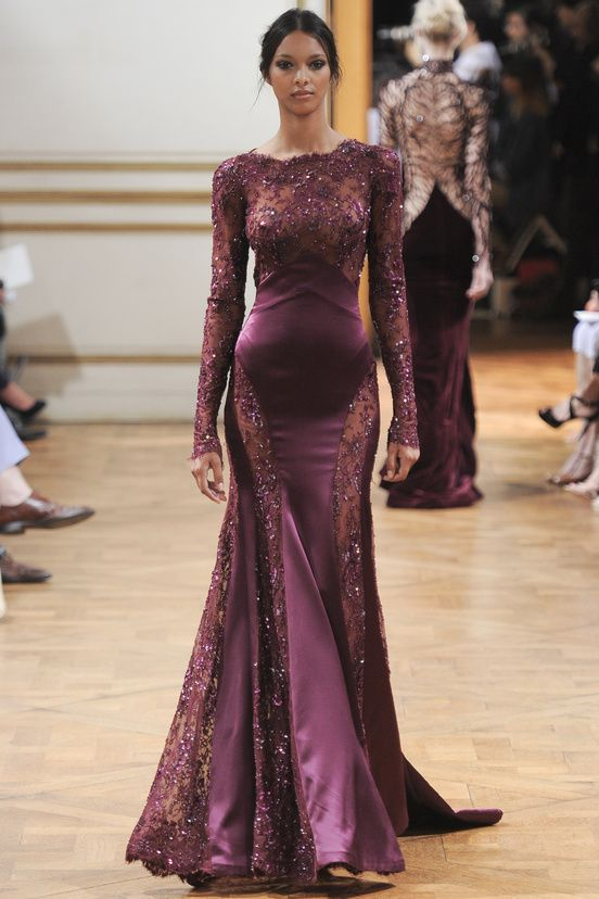 Zuhair Murad...but I'd wear a bra, or pasties, or something that would help hide the fact that it's cold.