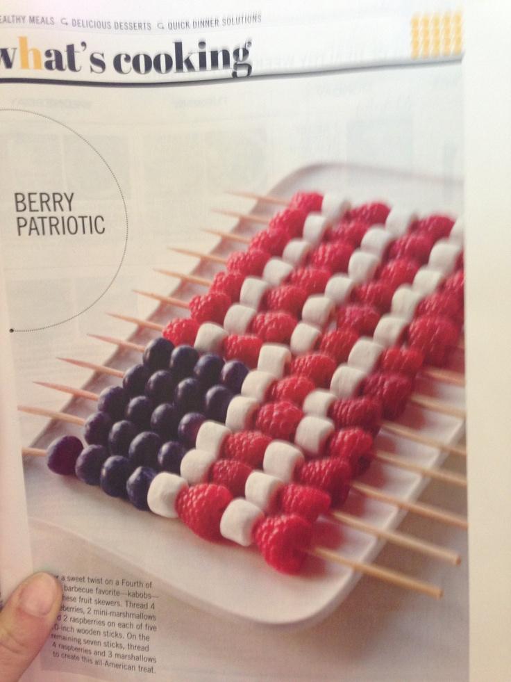Fourth of July food... perhaps blackberries instead of blueberries???