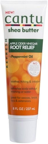 Cantu Refresh Root Relief with Apple Cider Vinegar + Peppermint Oil 8 oz (Pack of 3), Yellow
