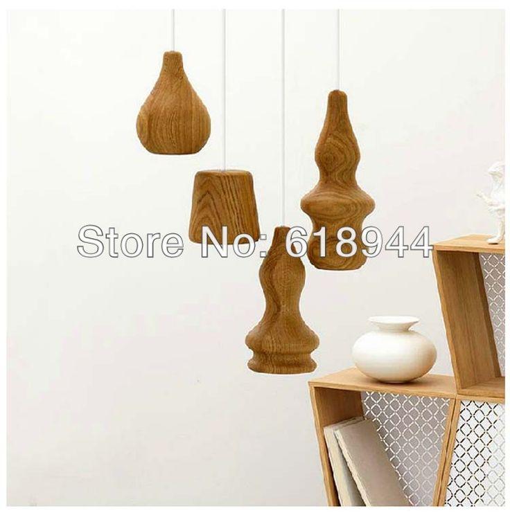 Инновационные элементы дизайнер современный дерево кулон фары светильников ламп для для дома столовая, Спальня, Бар и обучение комната