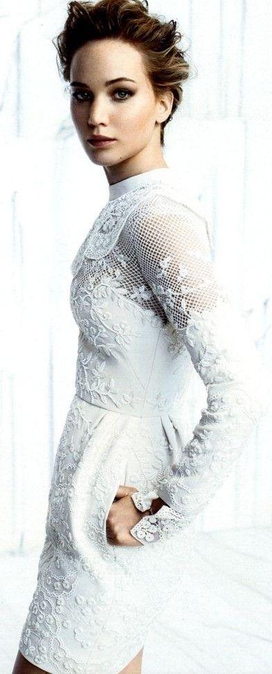 JLaw in Valentino as seen in InStyle Magazine ♥✤   KeepSmiling   BeStayClassy