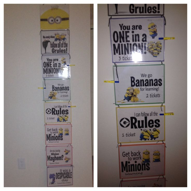 Minion Classroom Theme - behavior chart (4th grade)