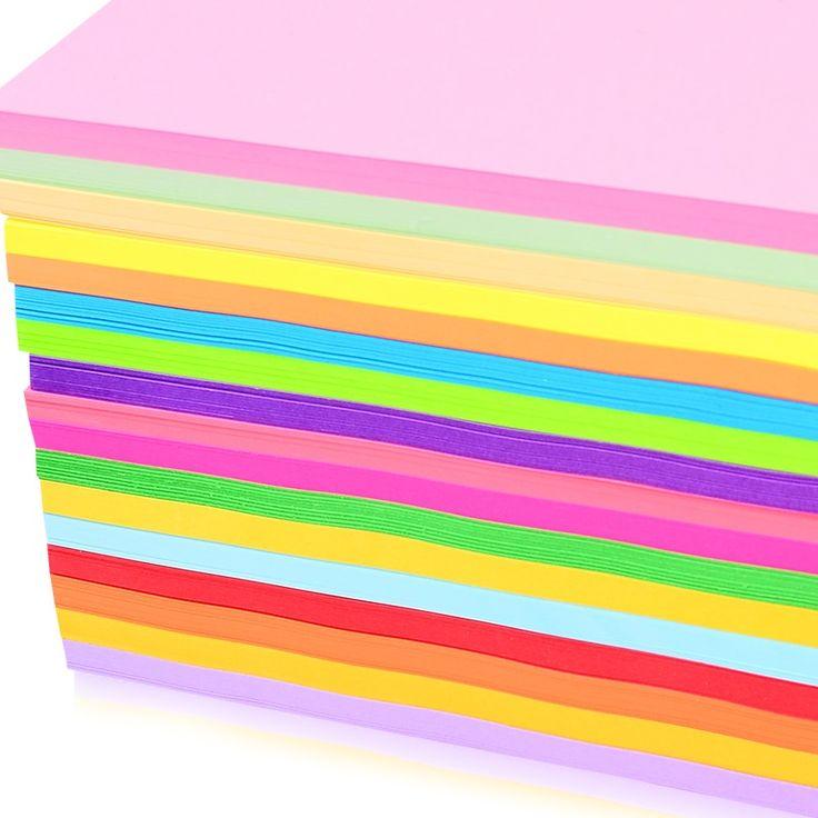 100 листов Цветная копировальная бумага a4 80 г многоцветной бумага 12 цветов, которые будут выбирать