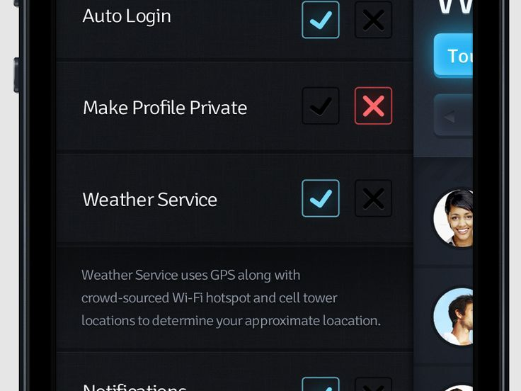 GYMApp 2 - Settings WIP